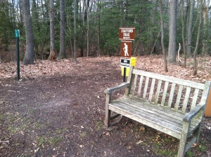 This is the entrance to the trail.