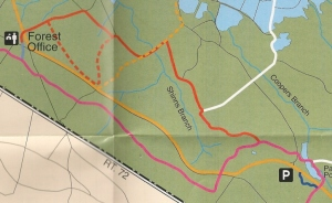 Map of Cranberry Trail. For full map, see the link below.