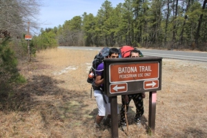 Batona Trail crosses the road.