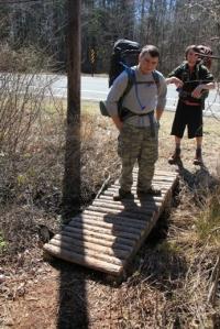 Crossing a nice little bridge at 563.