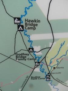Our run - Hawkins to Bodine.