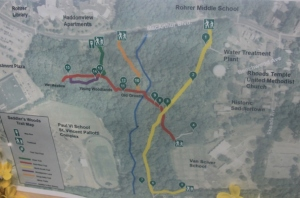 Map of the trails.
