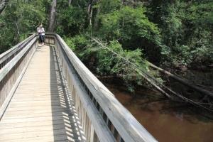 Footbridge over the river.