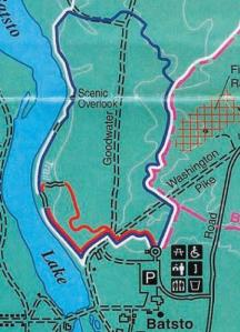 For a (full) copy, go to the Batsto Visitor's Center, located conveniently at the other end of the parking lot you're going to for this hike anyway.