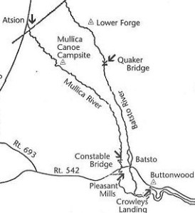 Map of the run.