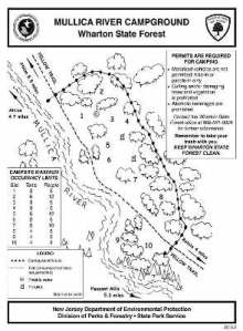 Campground map (as stolen from Wharton State Forest website)