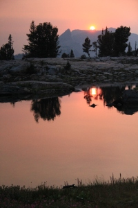 Watching amazing sunsets over alpine lakes that you couldn't get to any other way.