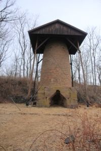 The last remaining bog iron furnace stack in New Jersey. At least I think I read that somewhere at some point. It may not be true.