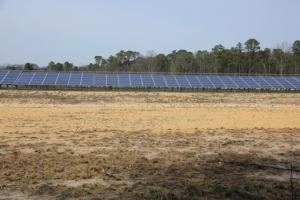Solar panel field.