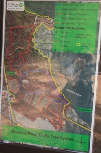 Map at the site (all trails, but some sun glare)