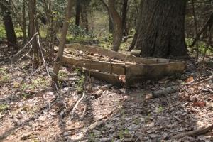 Old box/boat/something.