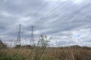 Power lines.