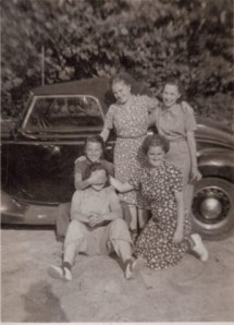 The Gang.  My grandma's the one with her eyes covered.