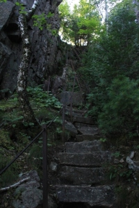 Then more steep steps.