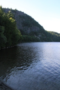 View of Beech Cliffs from Echo Lake.