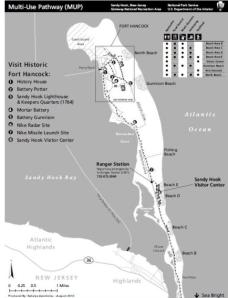 Sandy Hook trails map