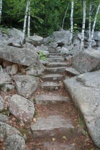 Steps near the end.