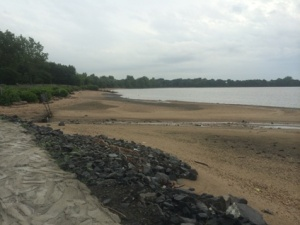 The majestic shores of the Delaware.