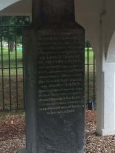 First memorial at this site, erected in the 1820s I think (it's hard to read).