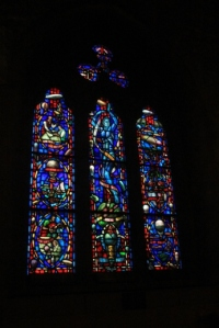 Beautiful stained glass windows.
