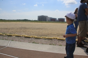 Our last stop is Lakehurst Hanger #1 (the one to the left, the other two weren't there when the Hindenburg went down).