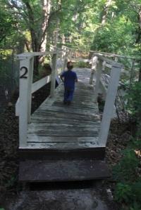 Onto the bridge and run, run, run, run, run.