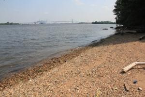 Nice beach (minus the washed up trash).