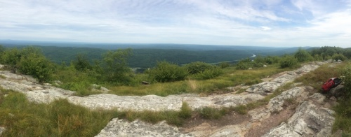 Maybe the best view in the state. You're looking down at the Delaware River.
