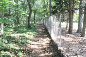 The first part runs along a fence.