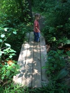 The second, much smaller bridge.