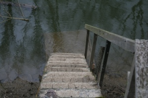 Stairs to a bath.