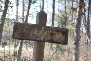 Lenape Trail sign.