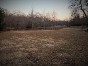Open space is nice after being stuck inside during the cold weather.