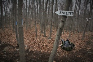 Mile 10.2 is the only shelter in this stretch, and our stop for the night.