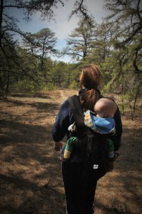 Baby in nature.