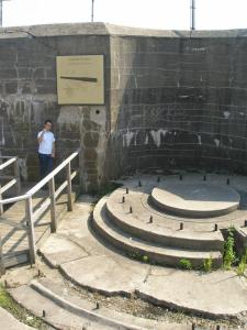 There you'll find the disappearing gun batteries.  Also, you'll find my buddy Adam.  But only if it's 2007 still.