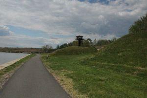 The concrete path.