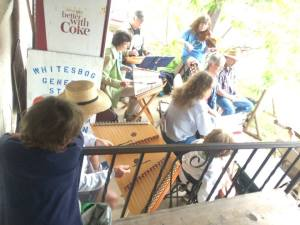 But The Pres was more infatuated with the Greater Pinelands Dulcimer Society, who were jamming under the porch of the general store. - www.gpdsonline.com/
