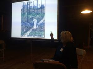 There were a few indoor presentations as well, like this one on Elizabeth White.