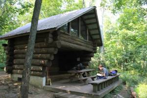 Beautiful shelter built by Ed's family and friends in his honor.