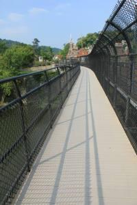 Up and onto the bridge.