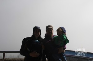 We made it! Happy family portrait at the top.