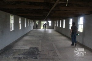 Inside the old barracks.