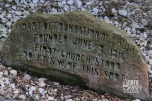 Stone from original church.