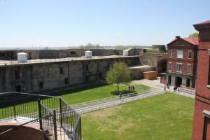 Which is possible, because the inside of the south wall of the fort is definitely post-Civil War, it looks a lot like the fortifications at Sandy Hook or Fort Mott.