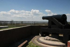 The gun usually fired for the demonstration, but which was silent due to nesting birds.