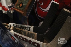 Stick Hexy used to score his first goal, the first goal every scored by an NHL goalie by shooting a puck into the net.