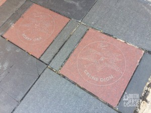 Odd pairing on the Canada Walk-of-Fame.